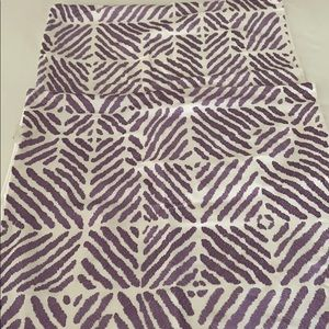 Decorative throw pillow covers (2) purple pattern